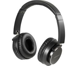 Aircoustic Premium Wireless Bluetooth Noise-Cancelling Headphones - Black