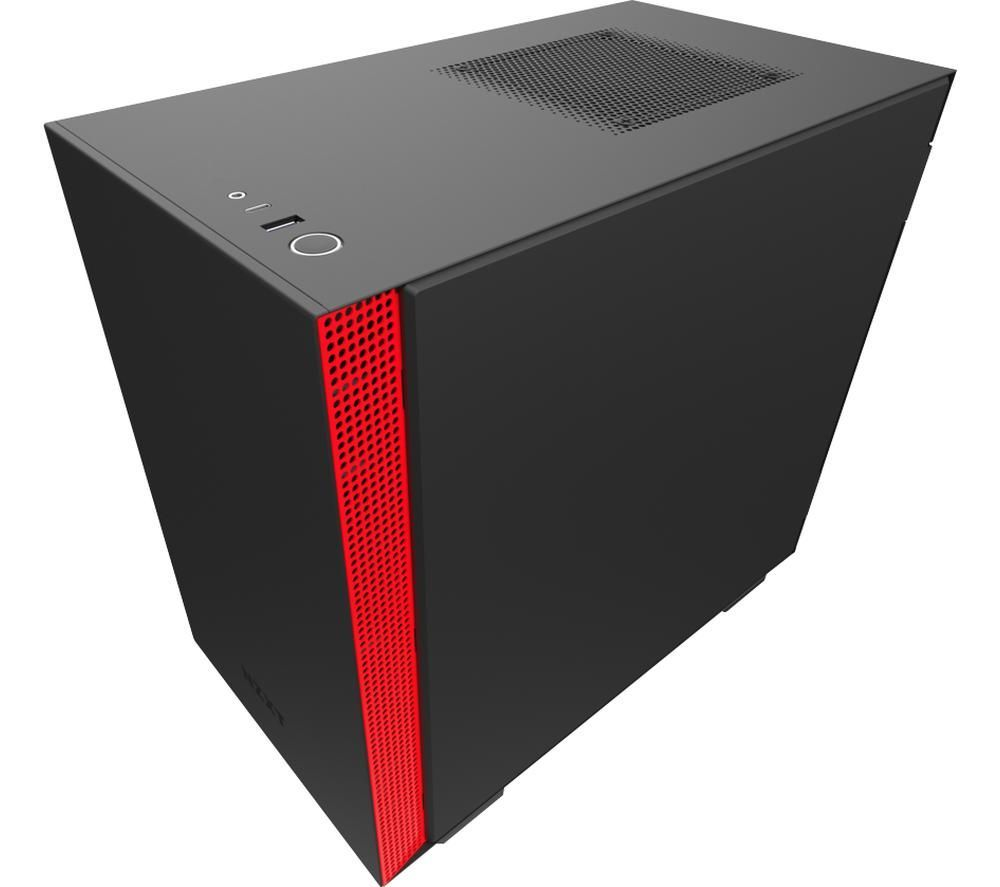 Image of NZXT H210i Mini-ITX Mid-Tower PC Case - Black & Red, Black