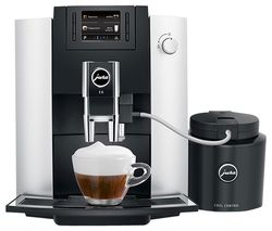 JURA E6 15342 Bean to Cup Coffee Machine - Platinum Best Price, Cheapest Prices