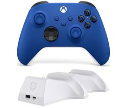 Xbox Wireless Controller & Venom Xbox Series X/S Twin Docking Station Bundle - Shock Blue