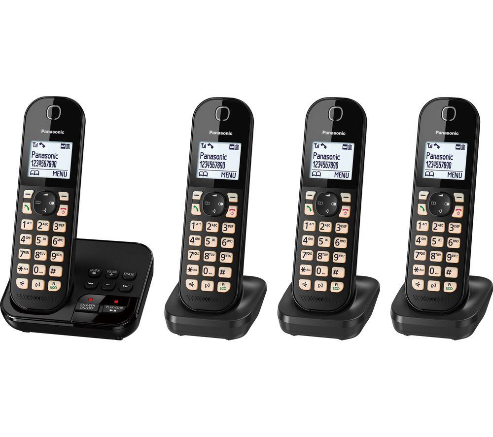 Panasonic Kx Tgc464eb Cordless Phone Quad Handsets
