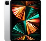 £999, APPLE 12.9inch iPad Pro Cellular (2021) - 128 GB, Silver, iPadOS, Liquid Retina XDR display, 128GB storage: Perfect for saving pretty much everything, Battery life: Up to 9 hours, Compatible with Apple Pencil (2nd generation) / Magic Keyboard / Smart Keyboard Folio,