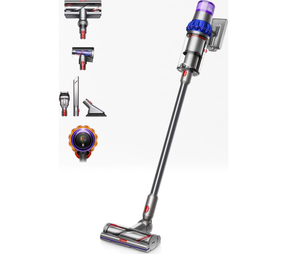 Image of DYSON V15 Detect Animal Cordless Vacuum Cleaner - Blue & Nickel, Blue