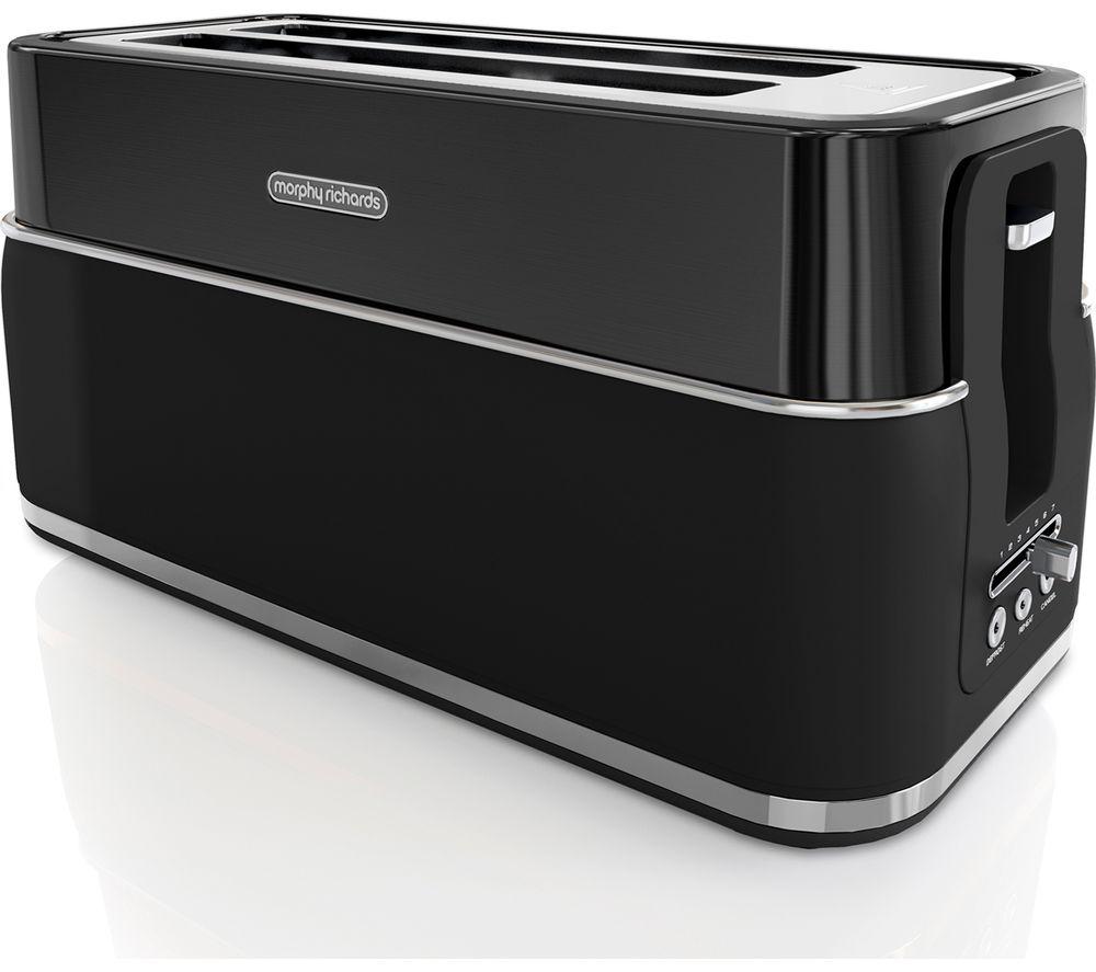 MORPHY RICHARDS Signature Opulent 245744 4-Slice Toaster - Black, Black