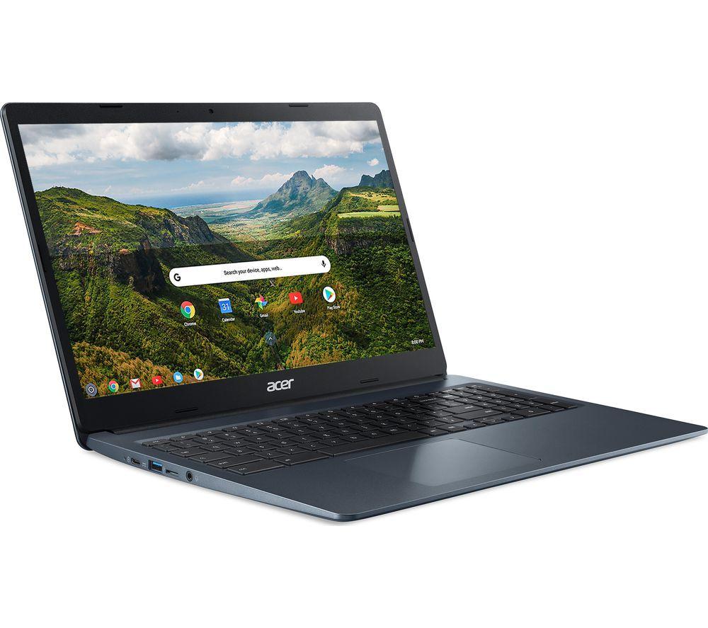 "Image of ACER 315 15.6"" Chromebook - Intel®Celeron, 64 GB eMMC, Blue, Blue"