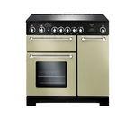 RANGEMASTER Kitchener 90 Electric Ceramic Range Cooker - Cream & Chrome