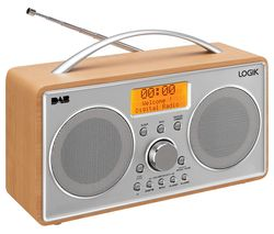 L55DAB15 Portable DAB+/FM Radio - Silver & Wood