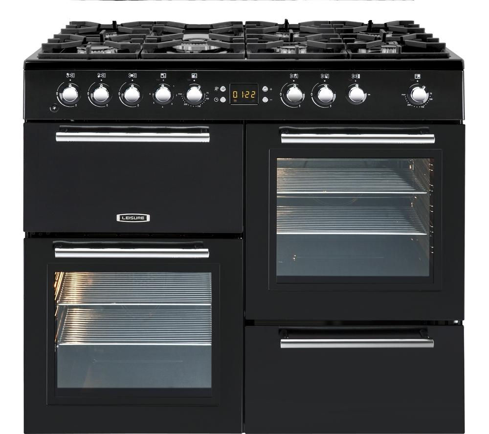 LEISURE A La Carte 100 AL100F230K Dual Fuel Range Cooker - Black, Black
