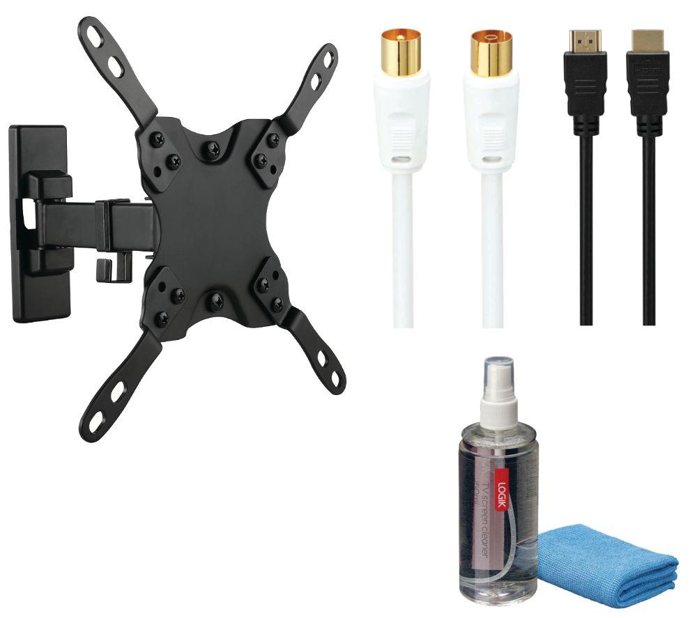 LOGIK LFMSKS16 Tilt & Swivel TV Bracket Starter Kit