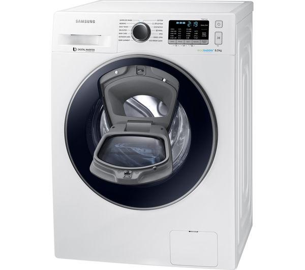 Buy SAMSUNG AddWash WW80K5410UW Washing Machine - White ...