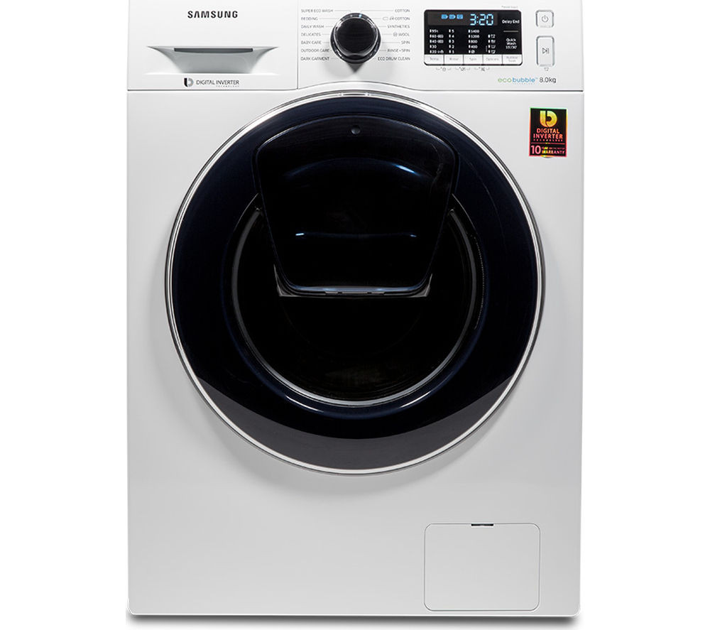 Samsung AddWash WW80K5410UW 8 kg 1400 Spin Washing Machine - White, White