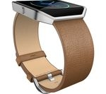 FITBIT Blaze Leather Accessory Band - Large, Camel