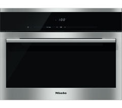 MIELE DG6100 Compact Steam Oven - Black & Steel