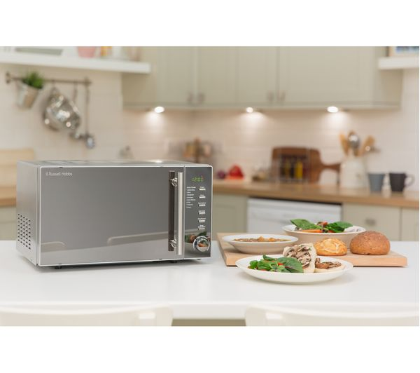 bd922559befa Buy RUSSELL HOBBS RHM2017 Compact Solo Microwave - Silver | Free ...