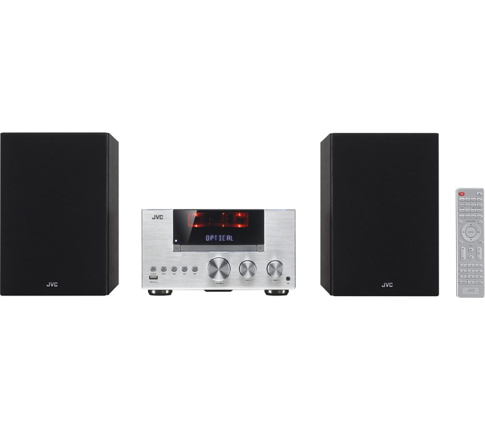 JVC UX-D427S Wireless Traditional Hi-Fi System - Silver