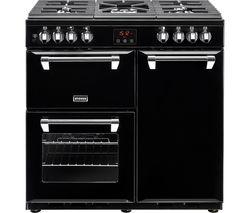 STOVES Ellingwood 90DFT Dual Fuel Range Cooker - Black & Chrome