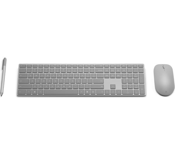 buy microsoft surface wireless keyboard grey free delivery currys. Black Bedroom Furniture Sets. Home Design Ideas