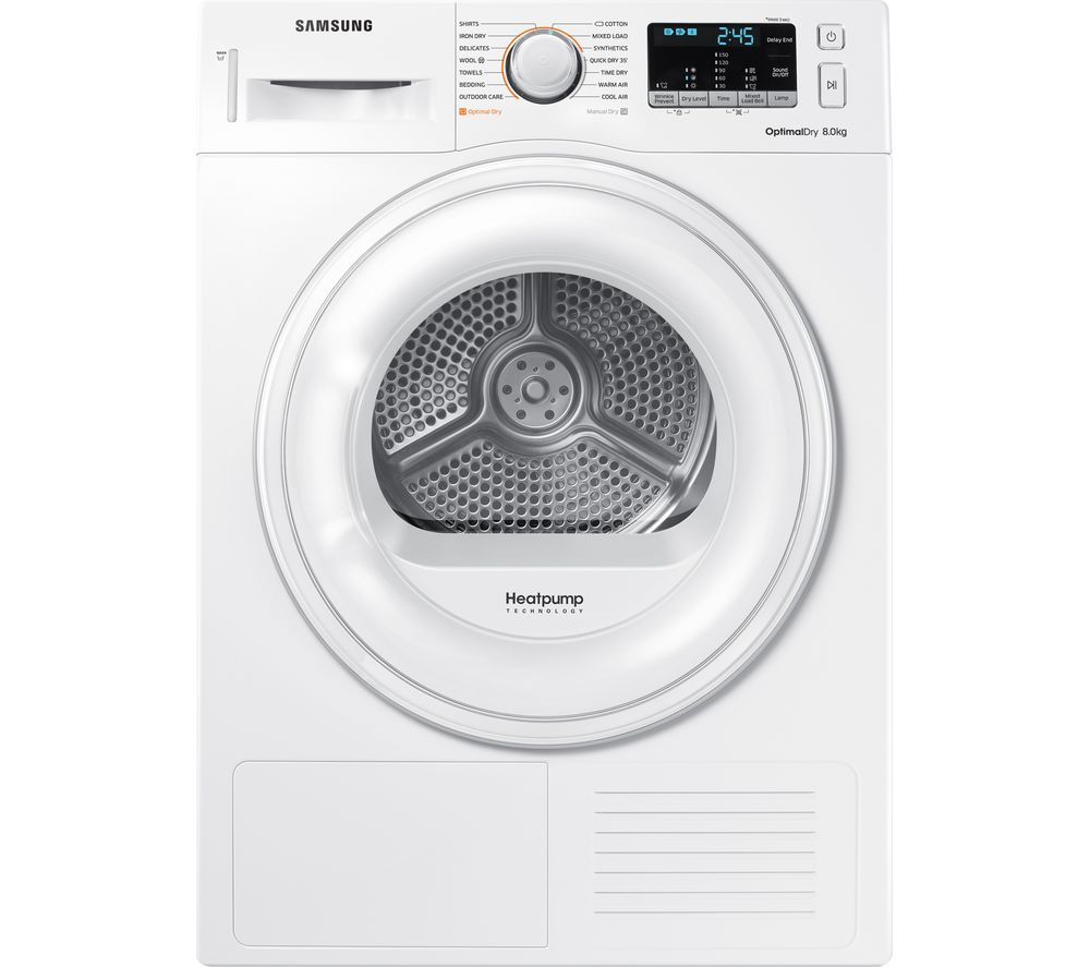 Samsung Tumble Dryer DV80M50101W/EU 8 kg Heat Pump  - White
