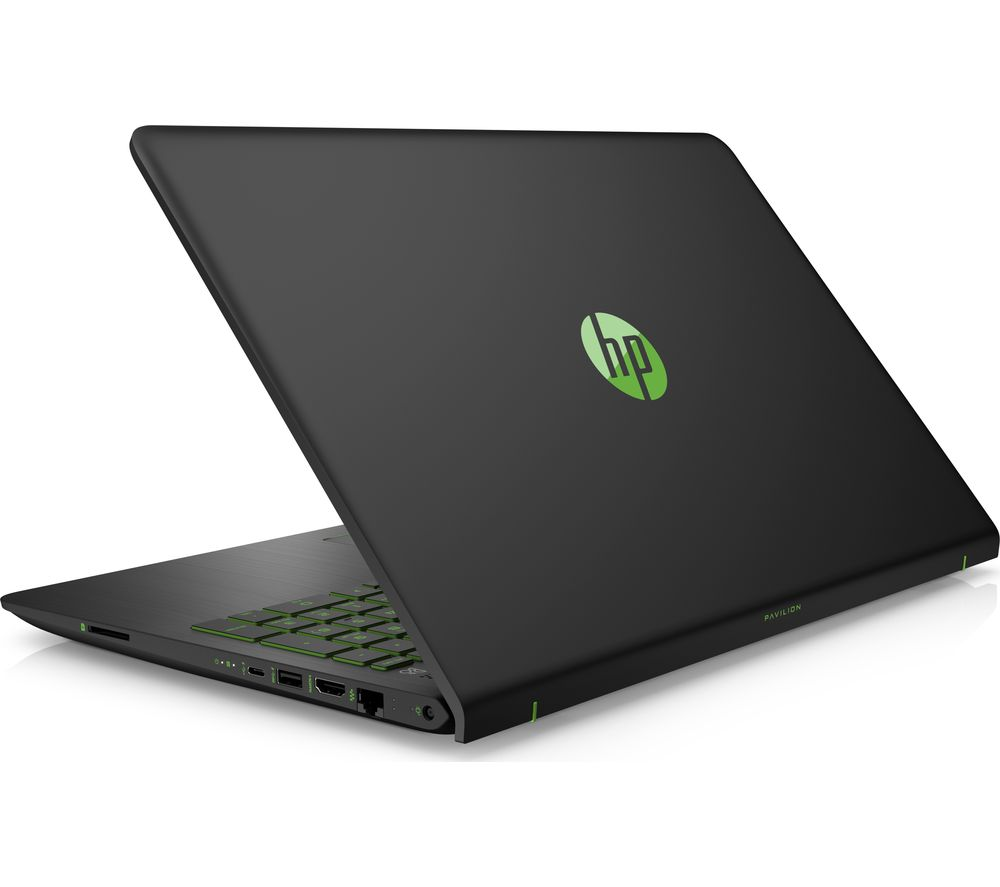 "HP Pavilion Power 15-cb059na 15.6"" Laptop - Black and Green + Office 365 Personal + LiveSafe Premium - 1 user / unlimited devices for 1 year"