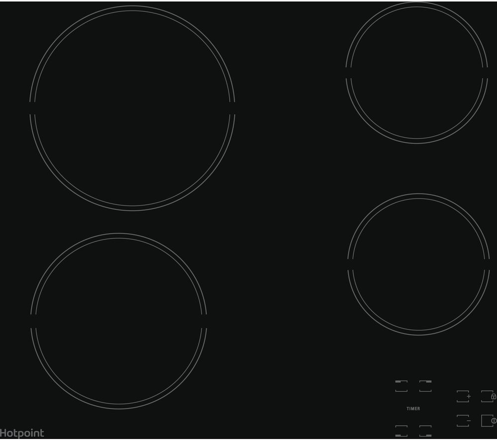HOTPOINT HR 651 C H Electric Ceramic Hob - Black