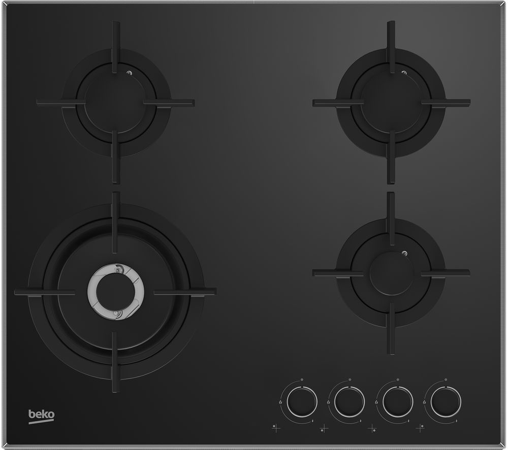 buy beko pro hclw64222s gas hob black free delivery currys. Black Bedroom Furniture Sets. Home Design Ideas