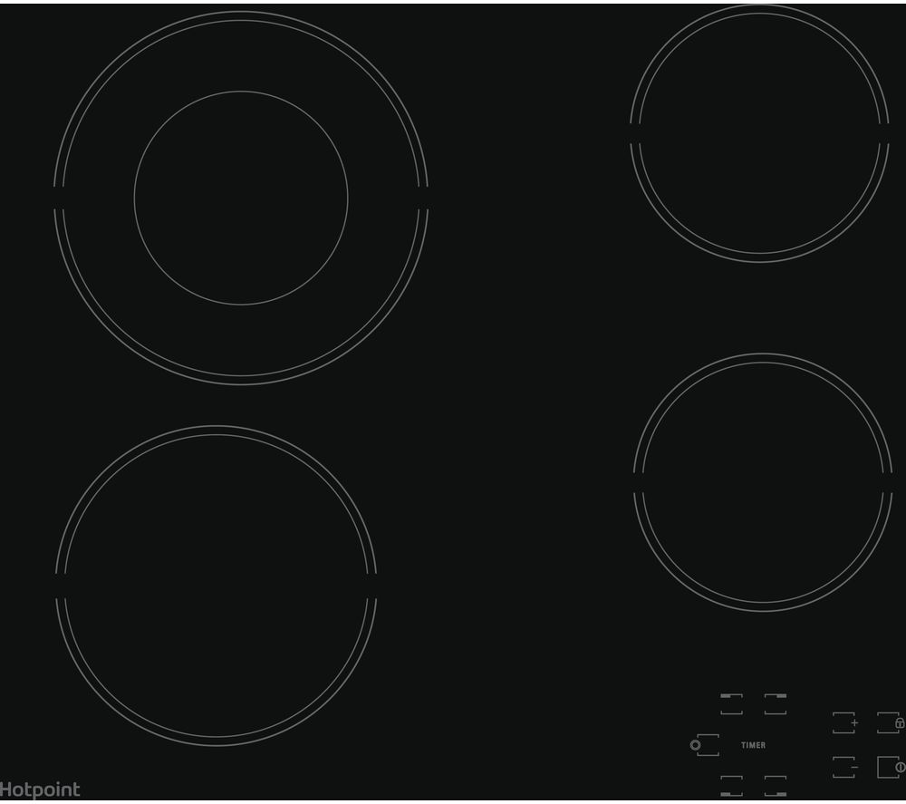 HOTPOINT HR 612 C H Electric Ceramic Hob - Black