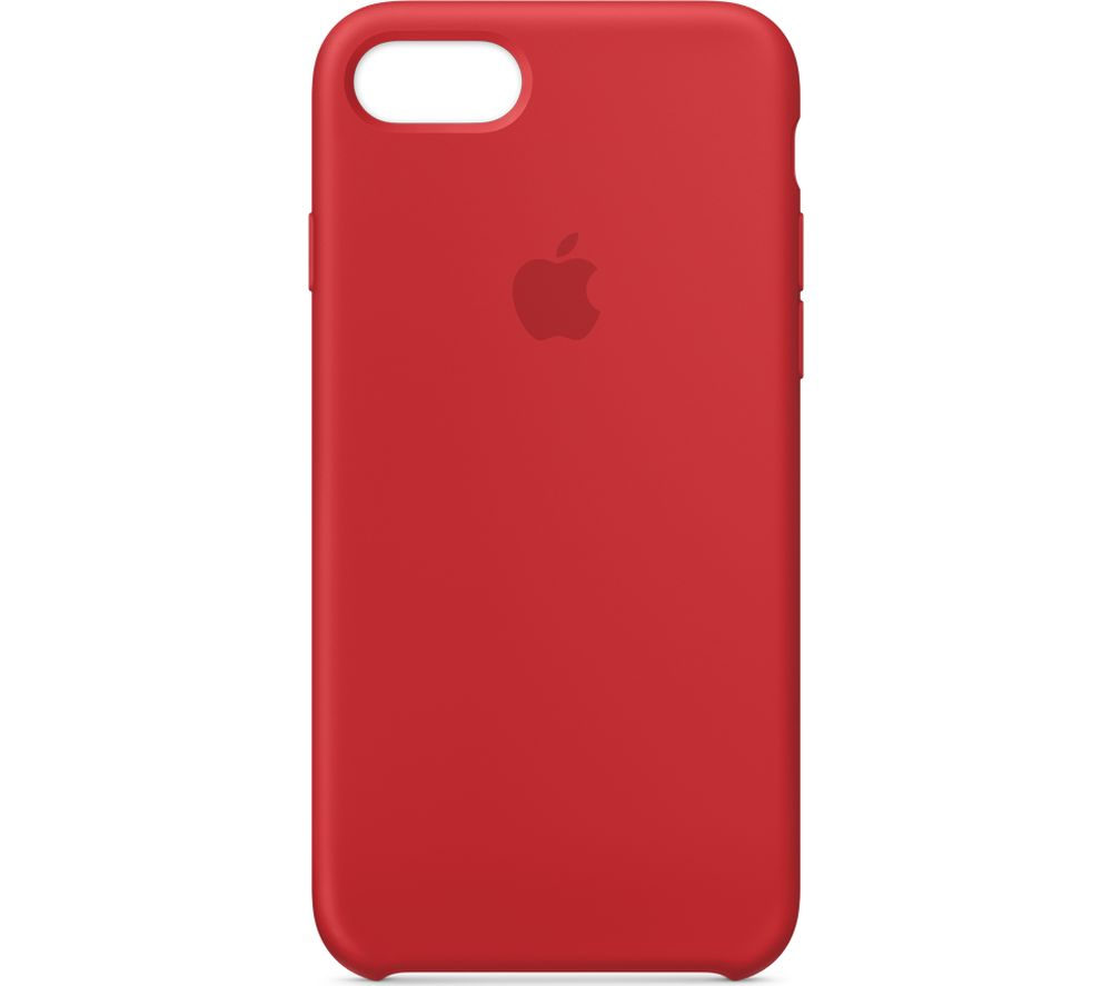 APPLE iPhone 8 & 7 Silicone Case - Red