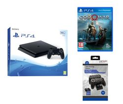 PlayStation 4 Slim, God Of War & Docking Station Bundle - 500 GB