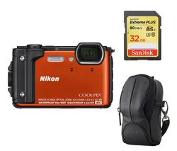 NIKON COOLPIX W300 Tough Compact Camera - Orange