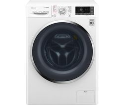 LG TrueSteam with Direct Drive F4J8FH2W Smart 9 kg Washer Dryer - White