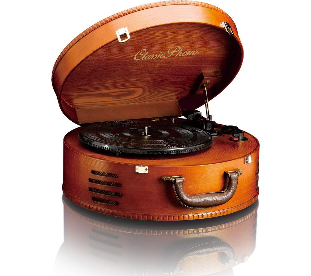 LENCO Classic Phono TT-34 Belt Drive Turntable - Cherry Wood