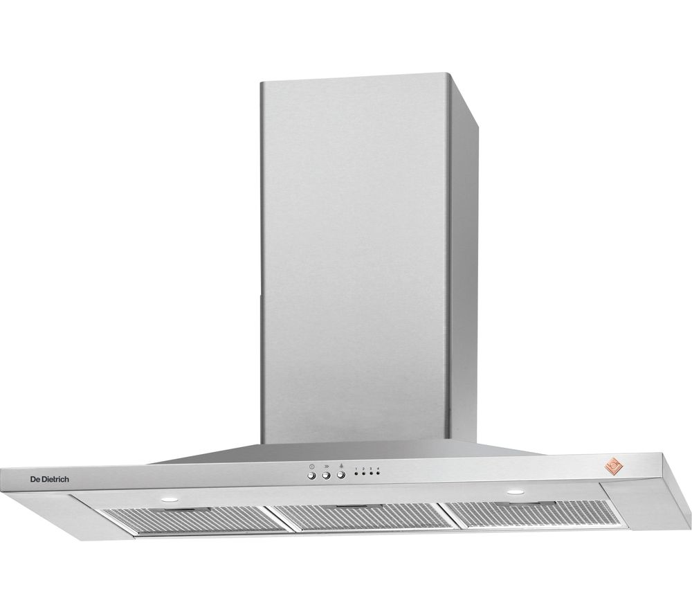 DE DIETRICH DHP7912X Chimney Cooker Hood - Stainless Steel, Stainless Steel