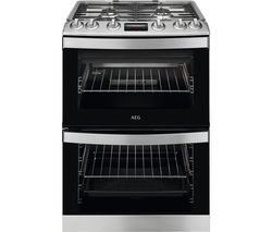 AEG CGB6130ACM 60 cm Gas Cooker – Stainless Steel & Black Best Price, Cheapest Prices