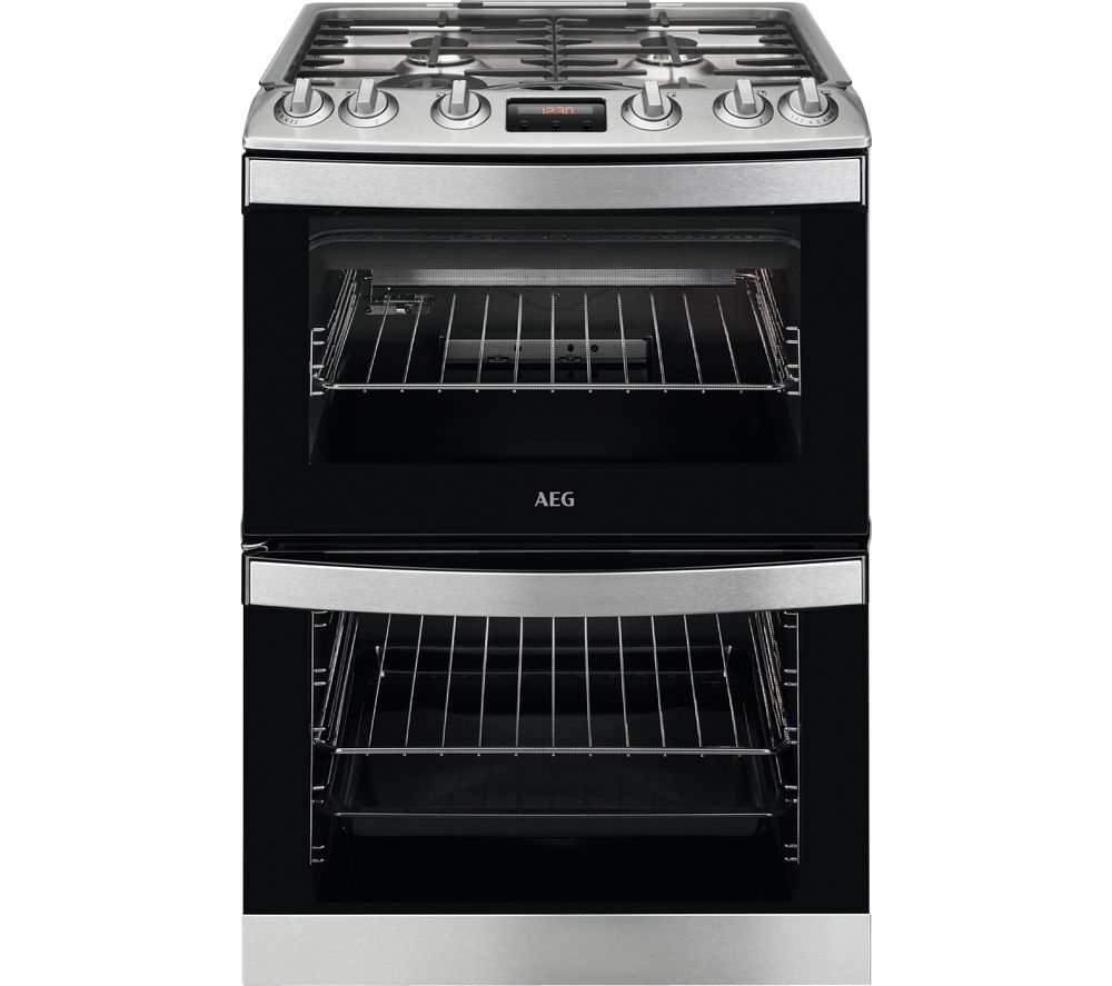 AEG CGB6130ACM 60 cm Gas Cooker - Stainless Steel & Black