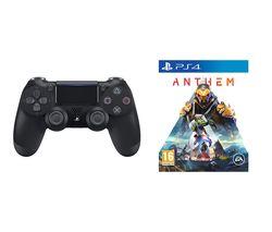 PS4 Anthem & DualShock 4 V2 Wireless Controller Bundle - Black