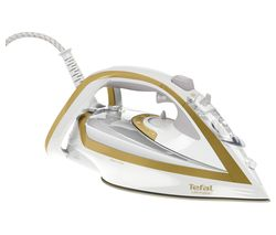 TEFAL Turbo Pro Anti-Scale FV5676 Steam Iron - White & Gold