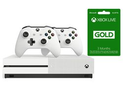 MICROSOFT Xbox One S, Wireless Controller & LIVE Gold Membership Bundle - 1 TB
