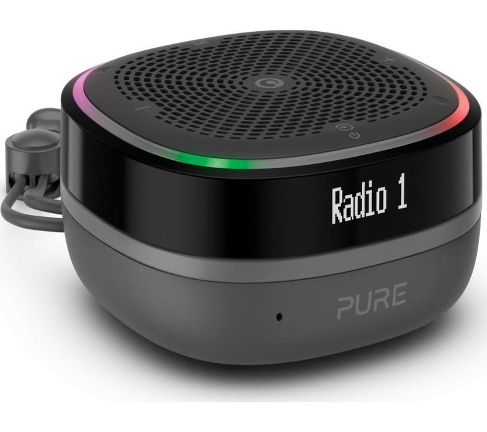 Image of PURE StreamR Splash Portable DAB+/FM Bluetooth Radio - Charcoal, Charcoal