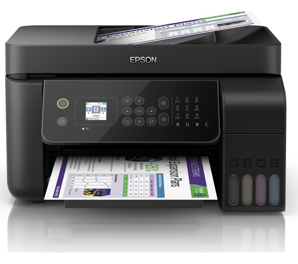 Image of EcoTank ET-4700 All-in-One Wireless Inkjet Printer with Fax, Black