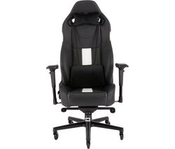 CORSAIR T2 Road Warrior Gaming Chair - Black & White