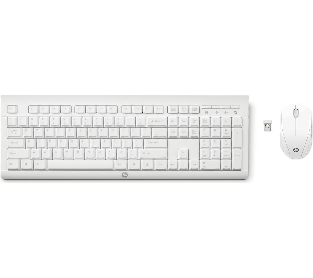 Image of C2710 Wireless Keyboard & Mouse Set - White, White