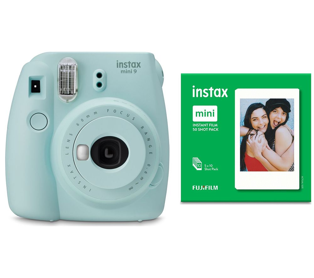 Click to view product details and reviews for Instax Mini 9 Instant Camera Mini Film 50 Shot Bundle Ice Blue Blue.