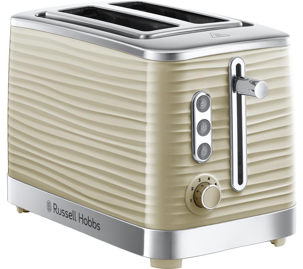 RUSSELL HOBBS Inspire 24374 2-Slice Toaster - Cream, Cream