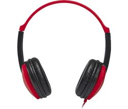 GROOV-E KIDZ GV-590-RB Kids Headphones - Red & Black