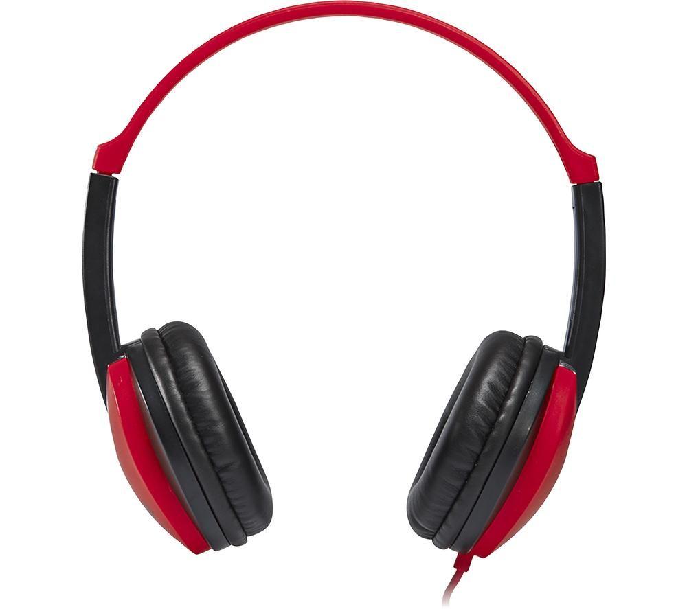 GROOV-E KIDZ GV-590-RB Kids Headphones - Red & Black