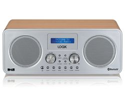 L75DAB20 Portable DAB+/FM Bluetooth Radio - Silver & Wood