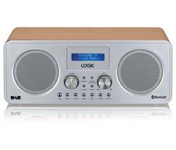 LOGIK L75DAB20 Portable DAB+/FM Bluetooth Radio - Silver & Wood