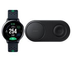 Galaxy Watch Active2 Golf Edition & Qi Wireless Duo Charging Pad Bundle
