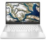 £329, HP 14a 14inch Chromebook - Intel® Celeron®, 64 GB eMMC, White, Chrome OS, Intel® Celeron® N4000 Processor, RAM: 4GB / Storage: 64GB eMMC, Full HD screen, Battery life:Up to 13 hours,