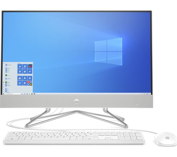 """Image of HP 24-dp0002na 23.8"""" All-in-One PC - AMD Ryzen 5, 256 GB SSD, Silver"""